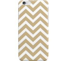 Christmas Gold & White Chevron iPhone Case/Skin