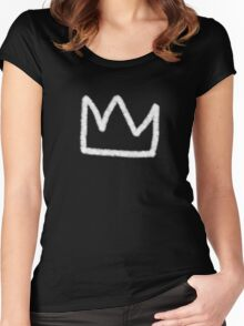 Crown in white Women's Fitted Scoop T-Shirt