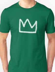 Crown in white Unisex T-Shirt