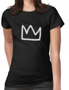 Crown in white Womens Fitted T-Shirt