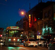 Streetcar in Little Italy On A Saturday Night by Gary Chapple
