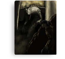 Young Dragon Slayer Canvas Print