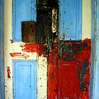 Door Painted in Abstract by RevJoc
