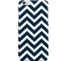 Christmas Midnight Blue & White Chevron iPhone Case/Skin