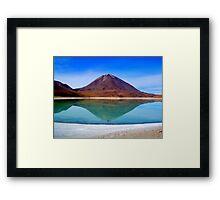 Volcano Reflection - Laguna Verde Framed Print