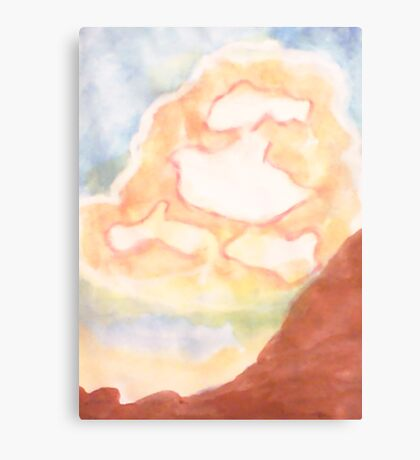 Ghost Busting ,Clouds, watercolor Canvas Print