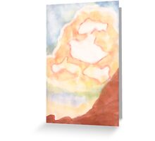 Ghost Busting ,Clouds, watercolor Greeting Card