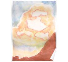 Ghost Busting ,Clouds, watercolor Poster