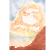 Ghost Busting ,Clouds, watercolor Photographic Print