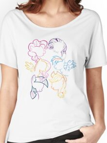 Main 6 Group Outline Women's Relaxed Fit T-Shirt