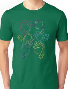 Main 6 Group Outline Unisex T-Shirt