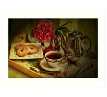 Morning Coffee on a Winter's Day Art Print
