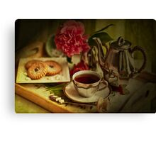Morning Coffee on a Winter's Day Canvas Print