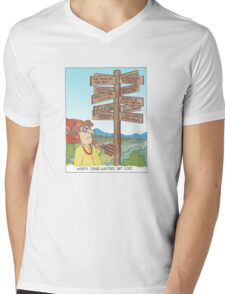 When Songwriters Get Lost Mens V-Neck T-Shirt