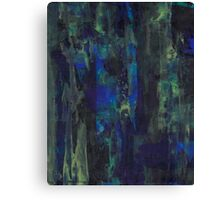 Abstract Blue Yellow green Canvas Print