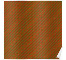 Red & Green Christmas Candy Stripe Poster