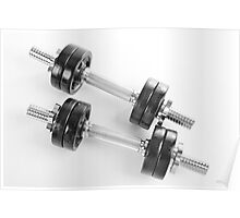 Chrome hand barbells weights  Poster