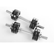 Chrome hand barbells weights  Photographic Print