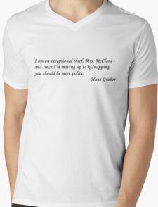 Hans Gruber Mens V-Neck T-Shirt