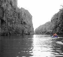 Canoeing Katherine Gorge - Darwin by Honor Kyne