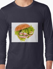 sandwich of graham roll with vegetables Long Sleeve T-Shirt