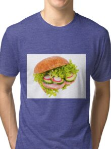 sandwich of graham roll with vegetables Tri-blend T-Shirt