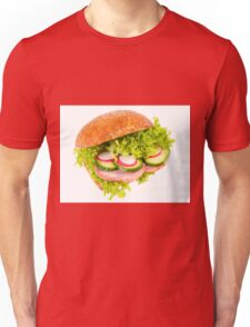 sandwich of graham roll with vegetables Unisex T-Shirt