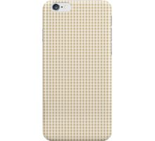Christmas Gold Gingham Check iPhone Case/Skin