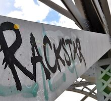 Rockhampton Train Bridge Graffitti by Bobby-Lee McQuire