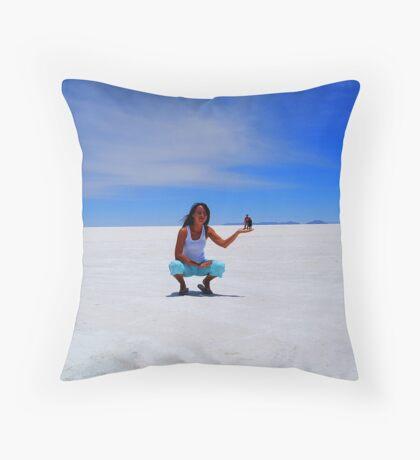 Perspective - Salar Uyuni Throw Pillow