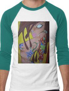 Ink monkey girl - sexy, tattooed, hardcore Men's Baseball ¾ T-Shirt