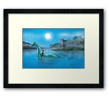 Sailing Nessie Framed Print