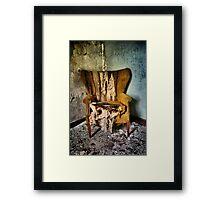 Back Stage Seat Framed Print