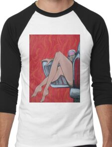 Curb Appeal #2 (horizontal rotation/squished image) - sexy tattooed girl, old car, need I say more? Men's Baseball ¾ T-Shirt