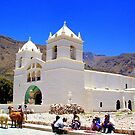 Market and Church - Colca Canyon by Honor Kyne