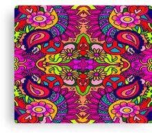 Bold Bright Retro Mania Canvas Print