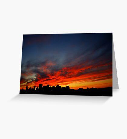 Edmonton Skyline and Sunset Greeting Card