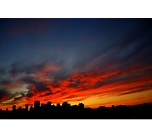 Edmonton Skyline and Sunset Photographic Print