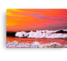 SURFING THE SUN Canvas Print