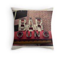 Vintage Bar Sign Throw Pillow