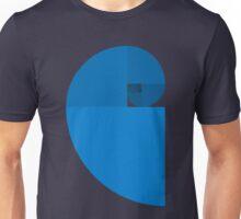 Golden Ratio Spiral - Blue Sections Unisex T-Shirt
