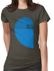 Golden Ratio Spiral - Blue Sections Womens Fitted T-Shirt