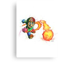 """Flower Power"". Mario from the videogame Super Mario Bros by Nintendo. Canvas Print"