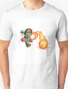 """Flower Power"". Mario from the videogame Super Mario Bros by Nintendo. T-Shirt"