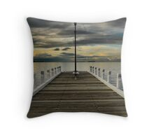 Winter Twilight on Geelong Waterfront Throw Pillow