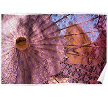 Purple Parasol Poster