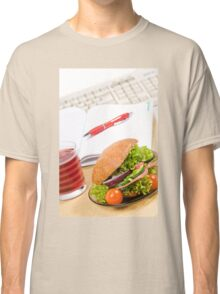 Sandwich with vegetables and juice  Classic T-Shirt