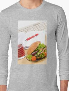 Sandwich with vegetables and juice  Long Sleeve T-Shirt