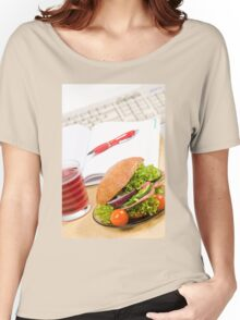 Sandwich with vegetables and juice  Women's Relaxed Fit T-Shirt
