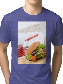 Sandwich with vegetables and juice  Tri-blend T-Shirt